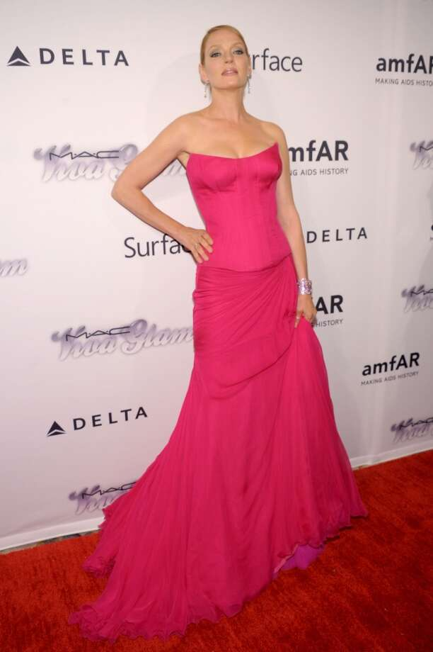 NEW YORK, NY - JUNE 13:  Actress Uma Thurman attends the 4th Annual amfAR Inspiration Gala New York at The Plaza Hotel on June 13, 2013 in New York City.  (Photo by Michael Loccisano/Getty Images)