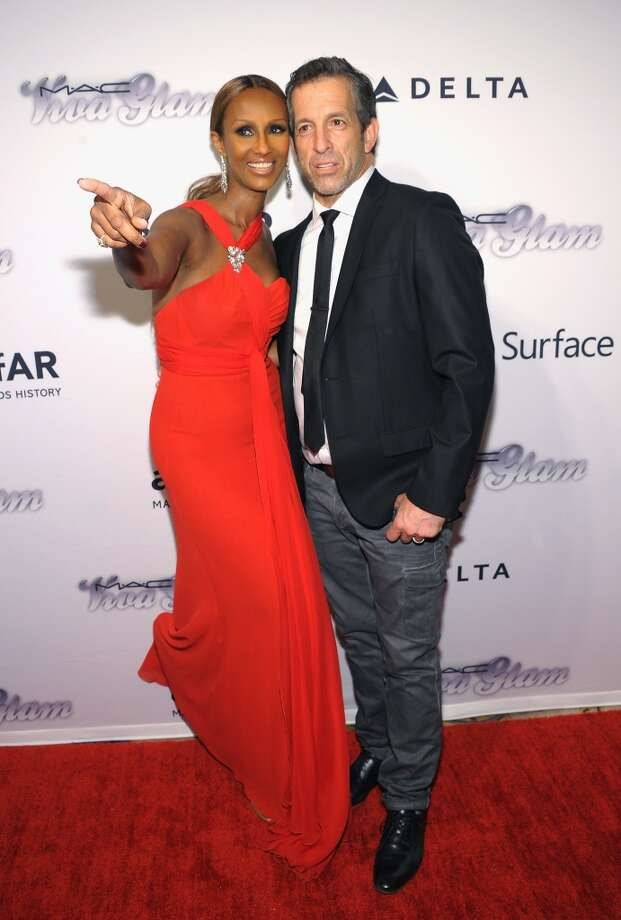 NEW YORK, NY - JUNE 13:  Model Iman and designer Kenneth Cole attend the 4th Annual amfAR Inspiration Gala New York at The Plaza Hotel on June 13, 2013 in New York City.  (Photo by Michael Loccisano/Getty Images)