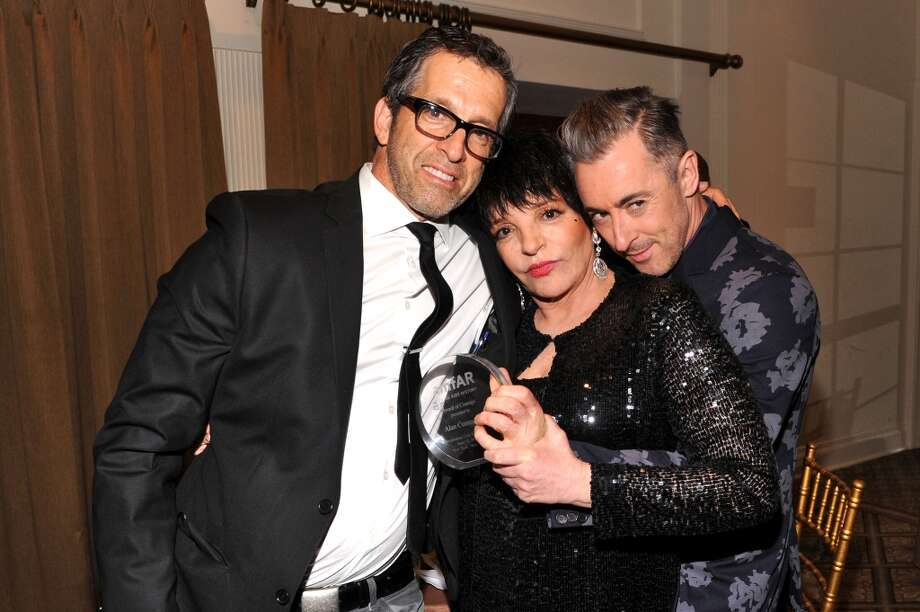 NEW YORK, NY - JUNE 13:  (L-R) Designer Kenneth Cole, Liza Minnelli and actor Alan Cumming performs during the 4th Annual amfAR Inspiration Gala New York at The Plaza Hotel on June 13, 2013 in New York City.  (Photo by Jamie McCarthy/Getty Images)