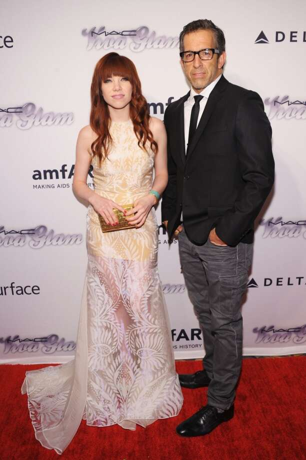NEW YORK, NY - JUNE 13: Singer Carly Rae Jepsen and designer Kenneth Cole attend the 4th Annual amfAR Inspiration Gala New York at The Plaza Hotel on June 13, 2013 in New York City.  (Photo by Michael Loccisano/Getty Images)