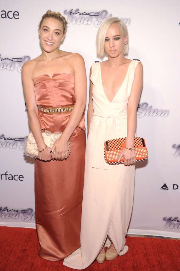 NEW YORK, NY - JUNE 13:  Musicians Mia Moretti (L) and Caitlin Moe attend the 4th Annual amfAR Inspiration Gala New York at The Plaza Hotel on June 13, 2013 in New York City.  (Photo by Michael Loccisano/Getty Images)