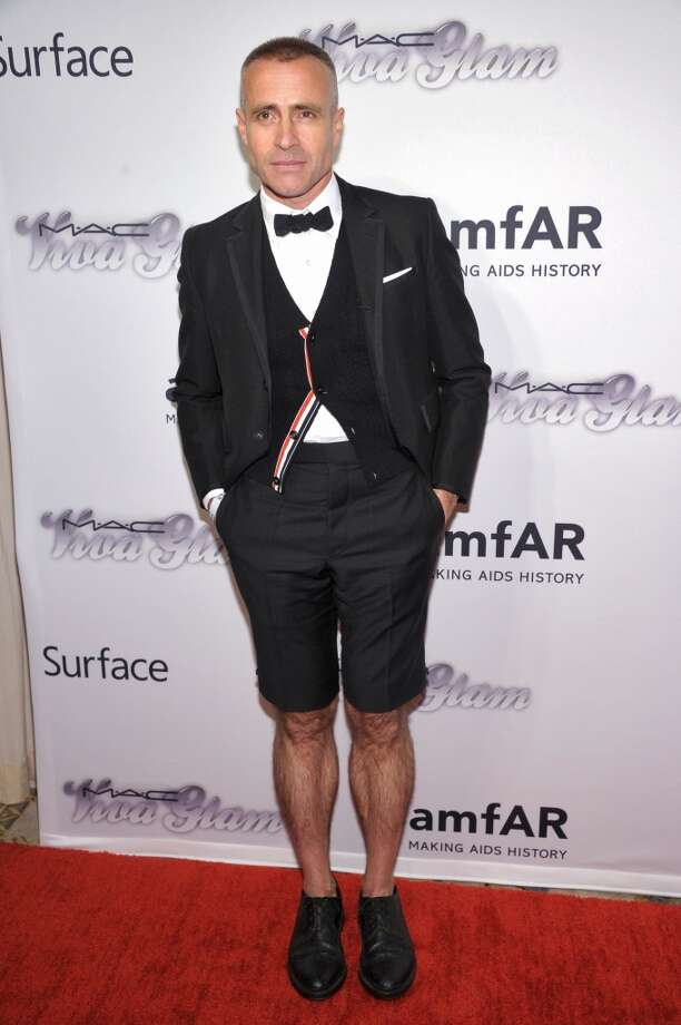 NEW YORK, NY - JUNE 13:  Designer Thom Browne attends the 4th Annual amfAR Inspiration Gala New York at The Plaza Hotel on June 13, 2013 in New York City.  (Photo by Michael Loccisano/Getty Images)