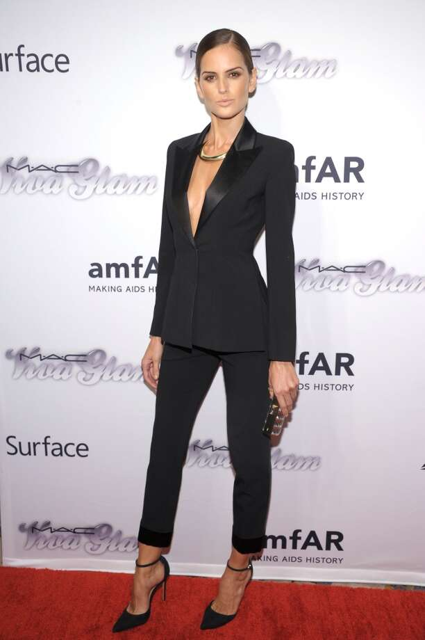 NEW YORK, NY - JUNE 13:  Model Izabel Goulart attends the 4th Annual amfAR Inspiration Gala New York at The Plaza Hotel on June 13, 2013 in New York City.  (Photo by Michael Loccisano/Getty Images)