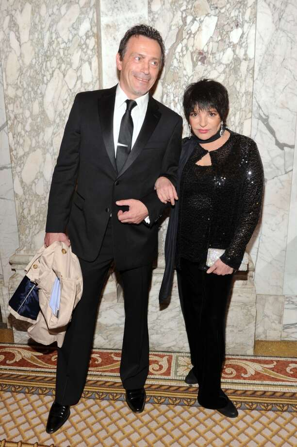 NEW YORK, NY - JUNE 13:  Actress Liza Minnelli (R) and guest attend the 4th Annual amfAR Inspiration Gala New York at The Plaza Hotel on June 13, 2013 in New York City.  (Photo by Jamie McCarthy/Getty Images)
