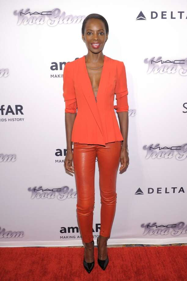 NEW YORK, NY - JUNE 13:  Model Kiara Kabukuru attends the 4th Annual amfAR Inspiration Gala New York at The Plaza Hotel on June 13, 2013 in New York City.  (Photo by Michael Loccisano/Getty Images)