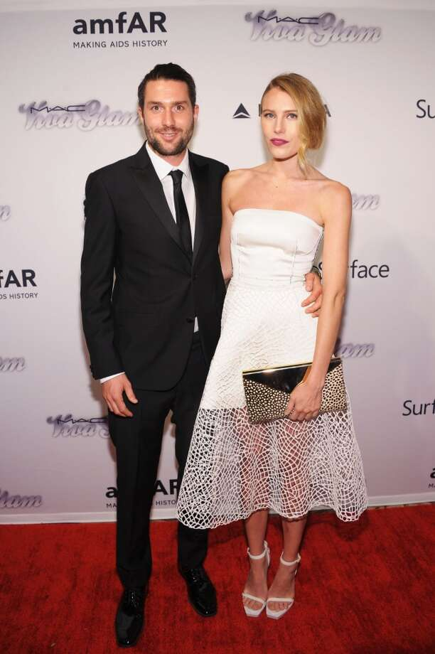 NEW YORK, NY - JUNE 13:  Phil Winser and Dree Hemingway attend the 4th Annual amfAR Inspiration Gala New York at The Plaza Hotel on June 13, 2013 in New York City.  (Photo by Michael Loccisano/Getty Images)
