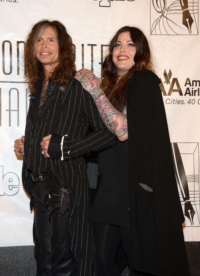 NEW YORK, NY - JUNE 13:  Honoree Steven Tyler (L) and Mia Tyler attend the Songwriters Hall of Fame 44th Annual Induction and Awards Dinner at the New York Marriott Marquis on June 13, 2013 in New York City.  (Photo by Theo Wargo/Getty Images for Songwriters Hall Of Fame)