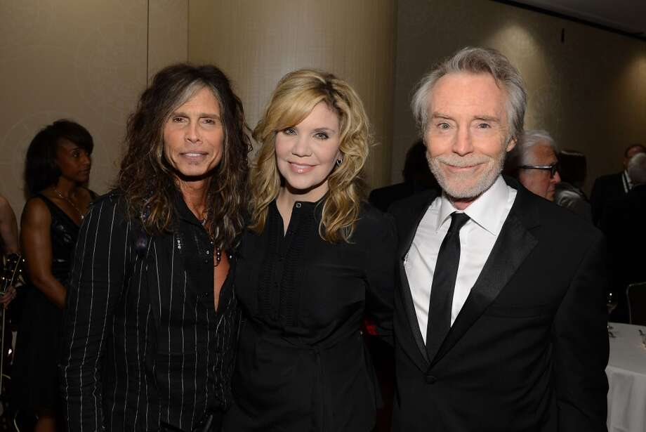 NEW YORK, NY - JUNE 13:  (L-R) Honoree Steven Tyler, Alison Krauss and Honoree J. D. Souther attend the Songwriters Hall of Fame 44th Annual Induction and Awards Dinner at the New York Marriott Marquis on June 13, 2013 in New York City.  (Photo by Larry Busacca/Getty Images for Songwriters Hall Of Fame)