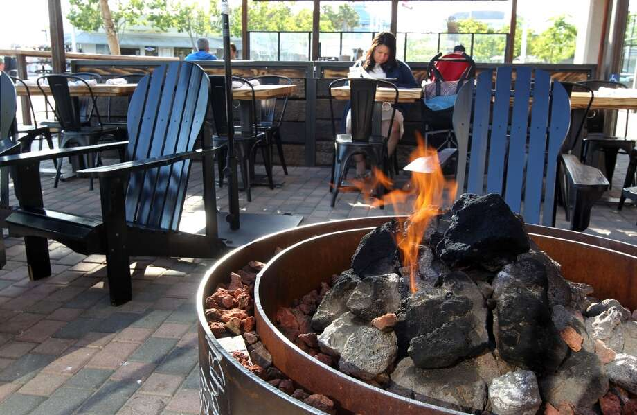 Fire pits offer seating out side the Forge.