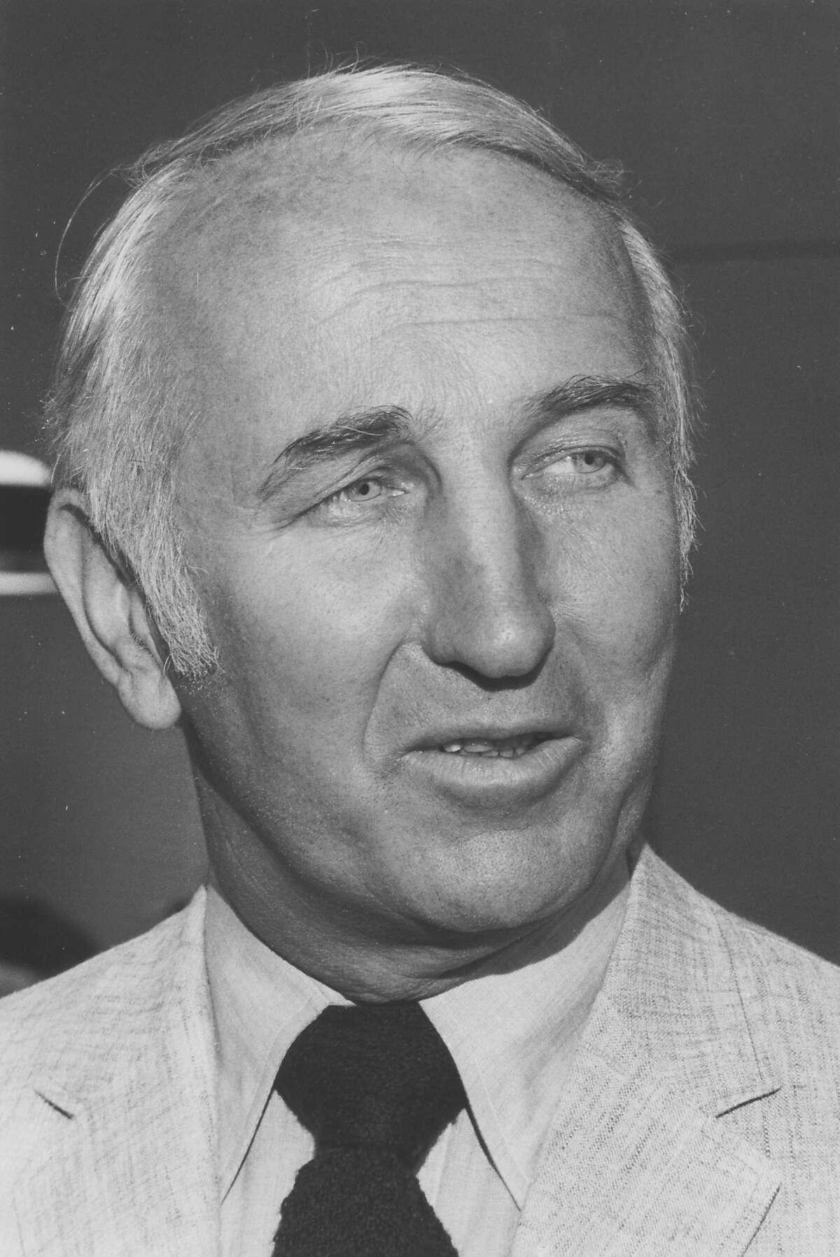 Henry Adams, the developer of the Showshoplace , 2 Kansas Street, San Francisco. Photo was taken: 09/15/1972.