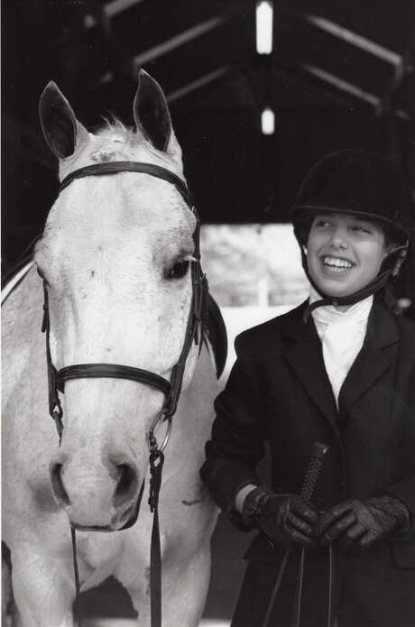 "Author Anton DiSclafani, as a teen in a horse competition. DiSclafani wrote ""The Yonahlossee Riding Camp for Girls."" Photo: Author's Personal Collection"