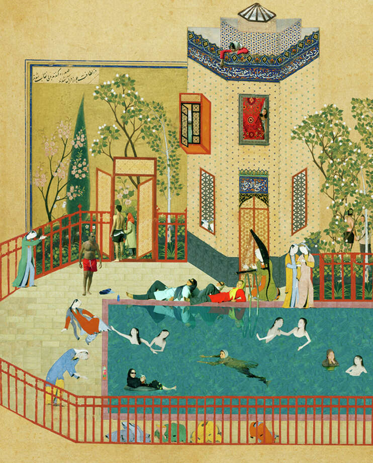 """Frolicking Women in the Pool,"" by Soody Sharifi"
