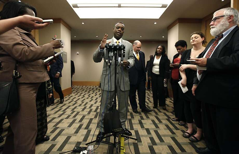 Kevyn Orr, Detroit emergency manager, tells reporters after meeting with creditors that the city has stopped paying on about $2.5 billion of unsecured debt, asking creditors to take about 10 cents on the dollar of the amount owed. Photo: Paul Sancya, Associated Press