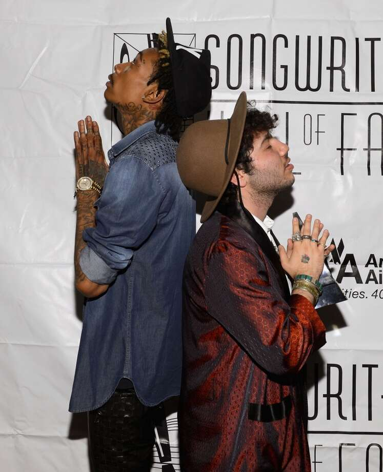 NEW YORK, NY - JUNE 13:  Wiz Khalifa, and Benny Blanco attend the Songwriters Hall of Fame 44th Annual Induction and Awards Dinner at the New York Marriott Marquis on June 13, 2013 in New York City.  (Photo by Larry Busacca/Getty Images for Songwriters Hall Of Fame)