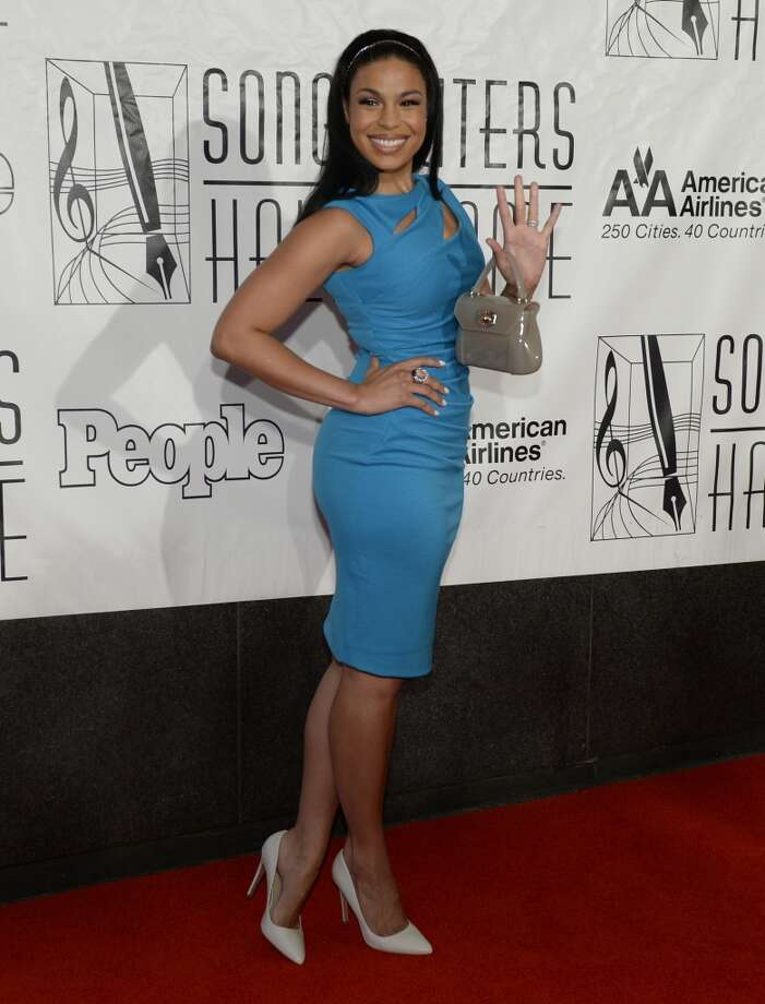 Jordin Sparks arrives for the Songwriters Hall of Fame 2013 Annual Induction and Awards Ceremony June 13, 2013 in New York. The Songwriters Hall of Fame celebrates songwriters, educates the public with regard to their achievements, and produces a spectrum of professional programs devoted to the development of new songwriting talent through workshops, showcases and scholarships.        AFP PHOTO / TIMOTHY CLARY        (Photo credit should read TIMOTHY CLARY/AFP/Getty Images)