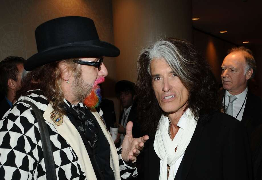 NEW YORK, NY - JUNE 13:  Mark Hudson and Joe Perry attend the Songwriters Hall of Fame 44th Annual Induction and Awards Dinner at the New York Marriott Marquis on June 13, 2013 in New York City.  (Photo by Gary Gershoff/Getty Images for Songwriters Hall Of Fame)