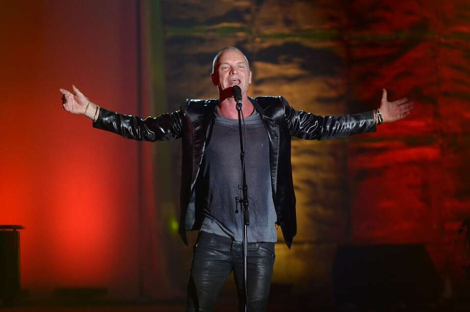 NEW YORK, NY - JUNE 13: Sting performs onstage at the Songwriters Hall of Fame 44th Annual Induction and Awards Dinner at the New York Marriott Marquis on June 13, 2013 in New York City.