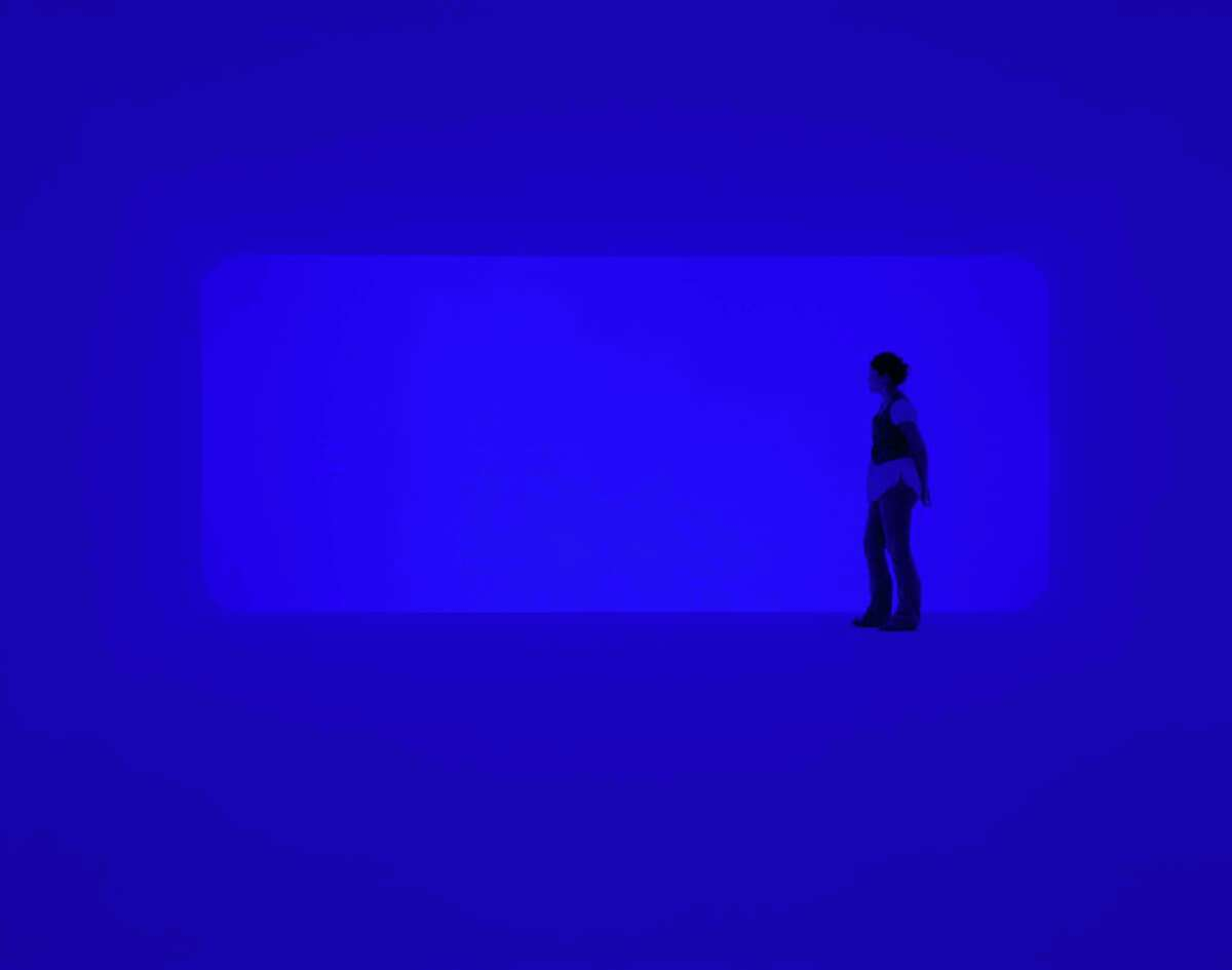 """James Turrell's """"End Around: Ganzfeld"""" 2007 installation at Pomona College Museum of Art, Claremont, California. Gift of the estate of Isabel B. Wilson in honor of Peter C. Marzio"""