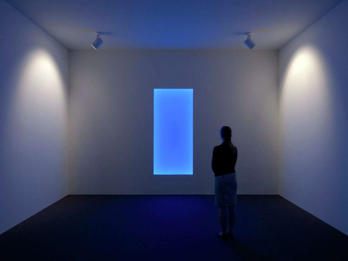 """James Turrell's """"Aurora B: Tall Glass""""2010, LED. Gift of the estate of Isabel B. Wilson in honor of Peter C. Marzio"""