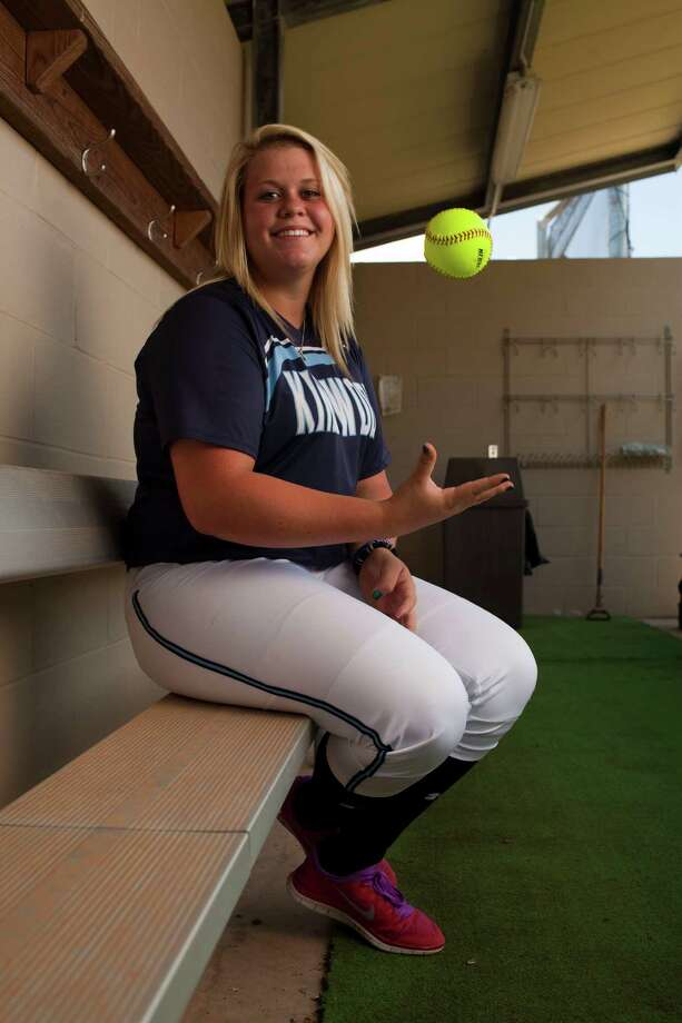 Kingwood pitcher Cassie McClure is the AGH pitcher of the year, June 4, 2013 in Kingwood, TX. Photo: Eric Kayne, For The Chronicle / © Eric Kayne 2013