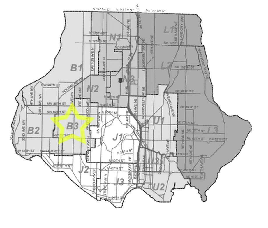 21. B3: This Ballard beat saw 346 residential burglaries reported in the past five years. Photo: Seattle Police Maps