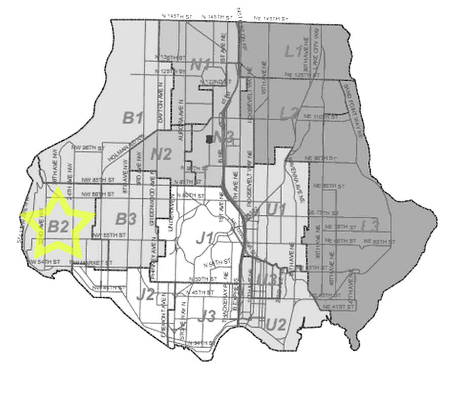30. B2: This Ballard beat saw 274 residential burglaries reported in the past five years. Photo: Seattle Police Maps
