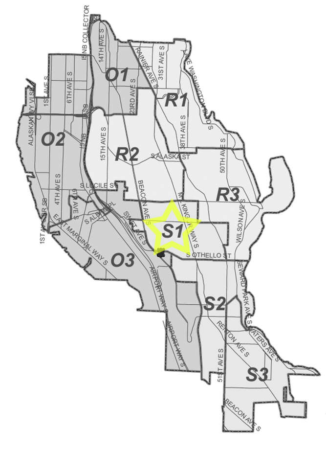 13. S1: This Beacon Hill area beat saw 396 residential burglaries reported in the past five years. Photo: Seattle Police Maps