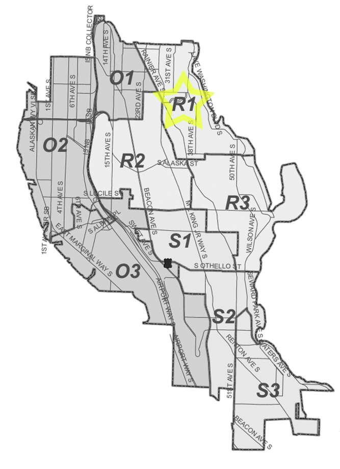 12. R1: This Mount Baker-neighborhood beat saw 411 residential burglaries reported in the past five years. Photo: Seattle Police Maps