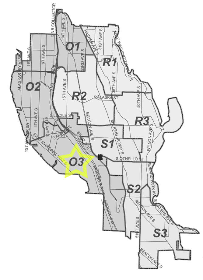 26. O3: This Georgetown-neighborhood beat saw 311 residential burglaries reported in the past five years. Photo: Seattle Police Maps