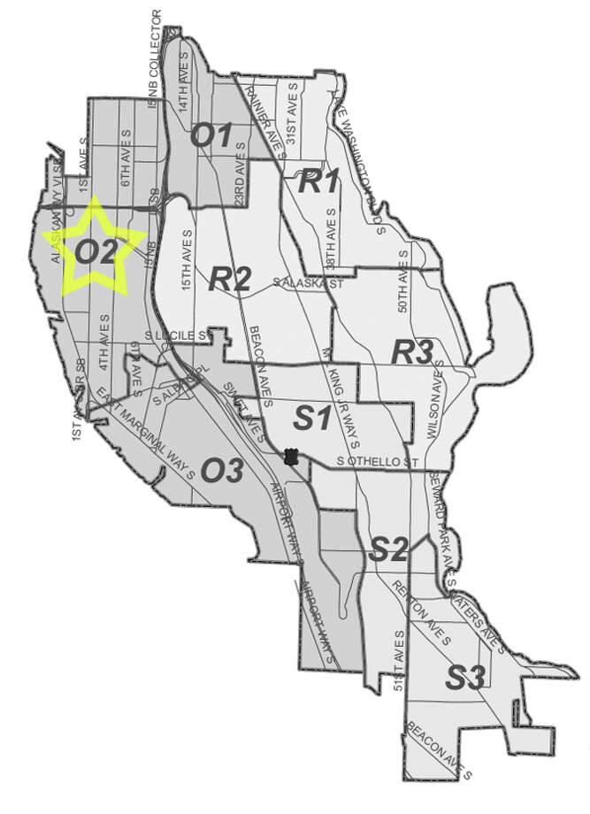51. O2: This Sodo-neighborhood beat saw 13 residential burglaries reported in the past five years. Photo: Seattle Police Maps