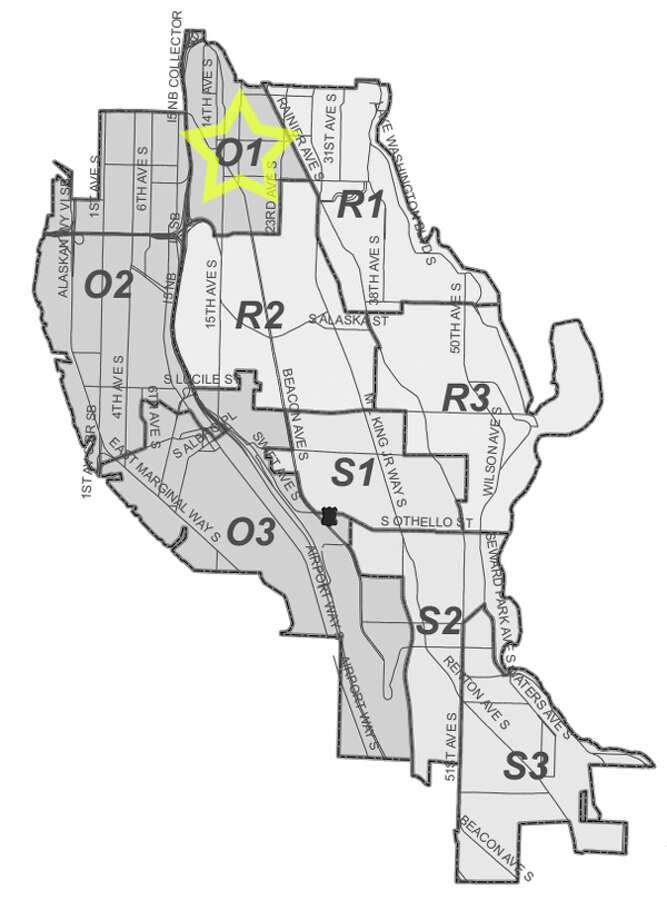 32. O1: This North Beacon Hill-neighborhood beat saw 258 residential burglaries reported in the past five years. Photo: Seattle Police Maps