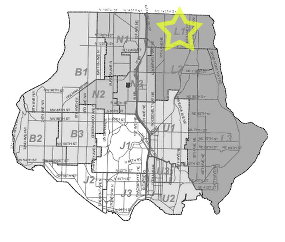 27. L1: This Lake City beat saw 297 residential burglaries reported in the past five years. Photo: Seattle Police Maps
