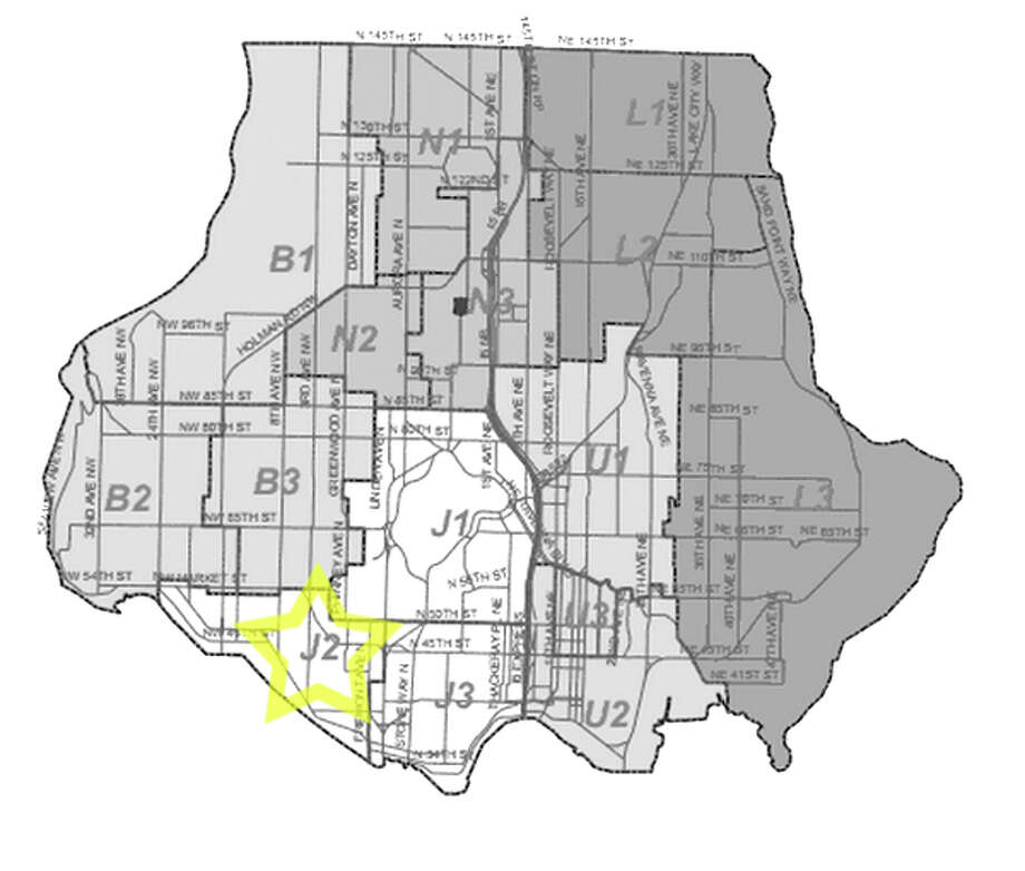 31. J2: This Ballard beat saw 268 residential burglaries reported in the past five years. Photo: Seattle Police Maps