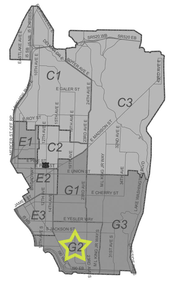 39. G2: This International District beat saw 161 residential burglaries reported in the past five years. Photo: Seattle Police Maps