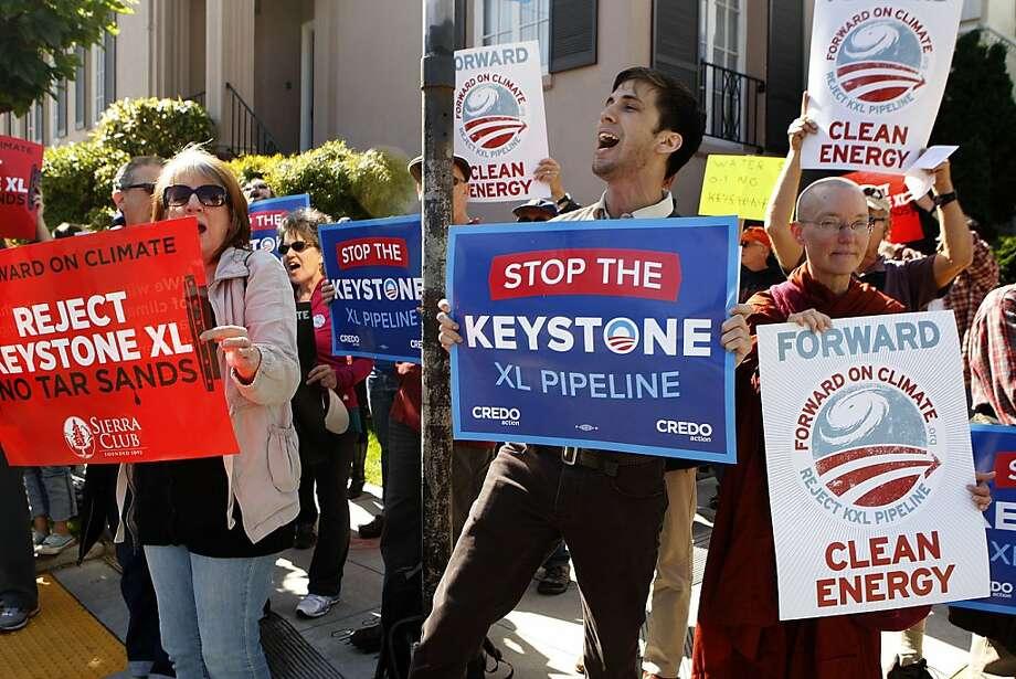 Pipeline protesters return for Biden visit