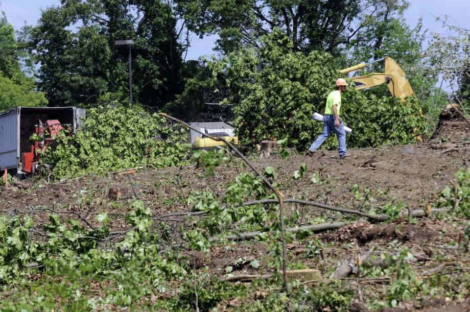 Land being cleared off Wolf Road for CAP COM Federal Credit Union headquarters on Friday June 14, 2013 in Colonie, N.Y. (Michael P. Farrell/Times Union) Photo: Michael P. Farrell