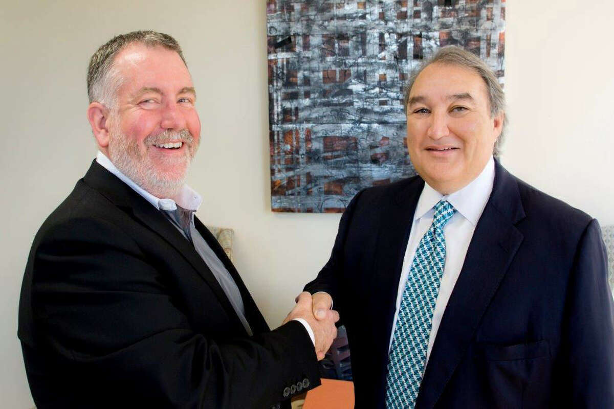 """Steven Evans (left) """"has great experience as an administrator and a curator,"""" said Ed Valdespino, board chairman of the Blue Star Contemporary Art Museum."""
