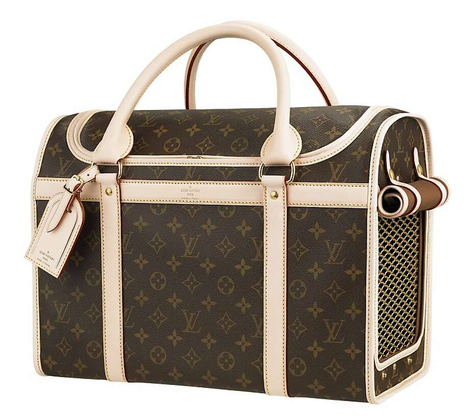 This $2,430 Louis Vuitton pet carrier is billed as being resistant to scratches. Photo: Courtesy Louis Vuitton