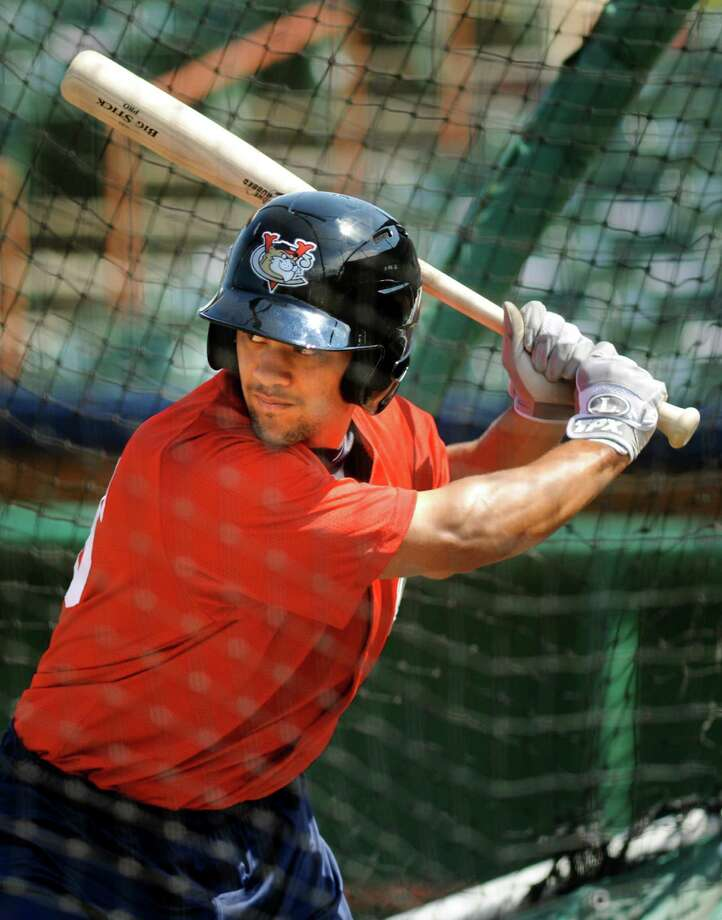 ValleyCats James Ramsay bats during practice on Friday, June 14, 2013, at Joseph L. Bruno Stadium in Troy, N.Y. (Cindy Schultz / Times Union) Photo: Cindy Schultz / 00022789A