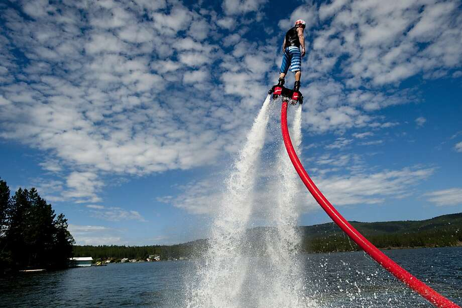 Jettin' Jenkins: Shane Jenkins rockets over the surface of Long Lake in Nine Mile Falls, Wash., on a Fly 
