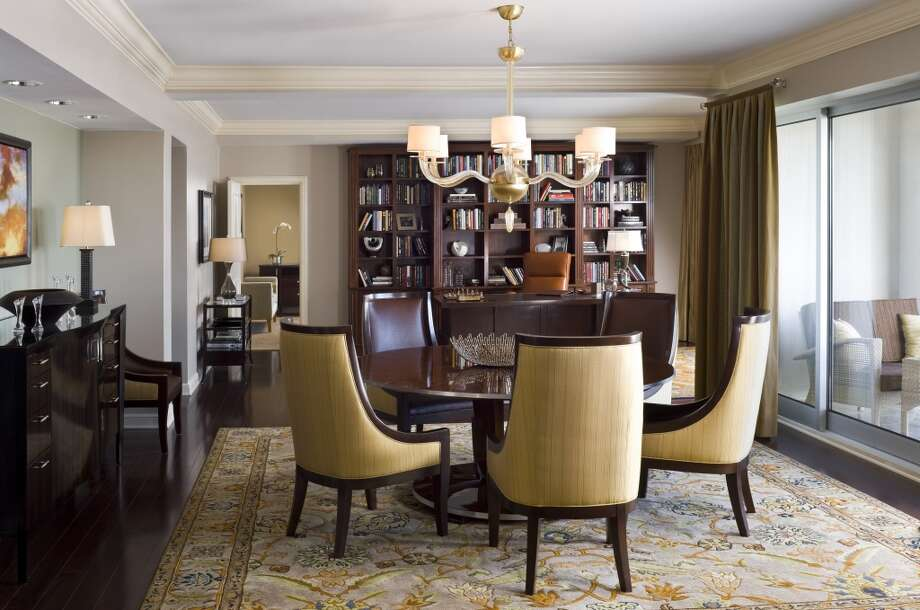 You can have dinner in your private dining room in the Presidential Suite at Houston's St. Regis Hotel, or have your butler unpack your bags while you run over to the Galleria a mile away.