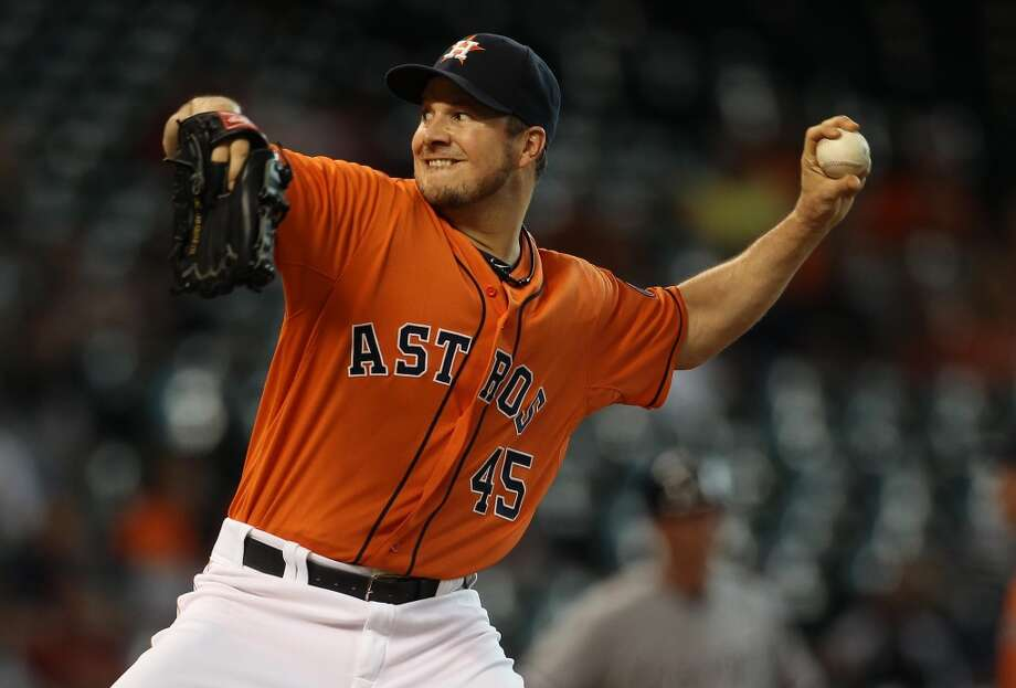 June 14: Astros 2, White Sox 1Erik Bedard was magical and the Astros started the four-game series on the right foot by beating the White Sox - with their ace Chris Sale on the mound.  Record: 24-44. Photo: Karen Warren, Houston Chronicle