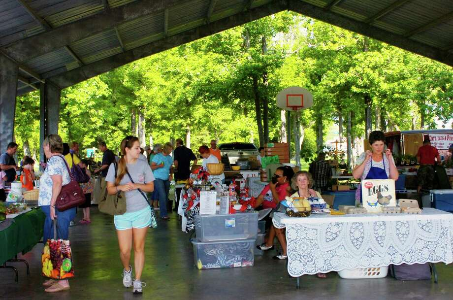 The Beaumont Farmers Market was the place to be Saturday morning for fresh produce and oodles of other specialty items. Photo: Sarah Moore