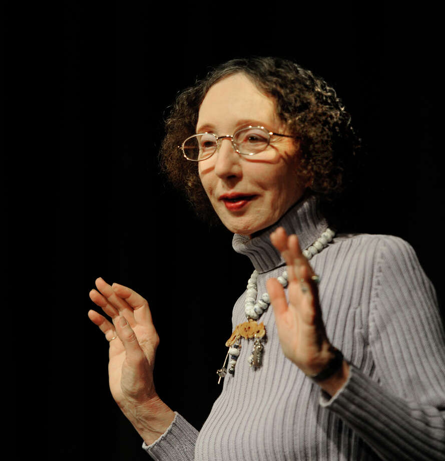 Printeton University professor, finalist for the Pulitzer Prize and National Book Award winner Joyce Carol Oates spoke at HVCC in Troy, New York March 11, 2011.  (Skip Dickstein / Times Union) Photo: Skip Dickstein / 2008