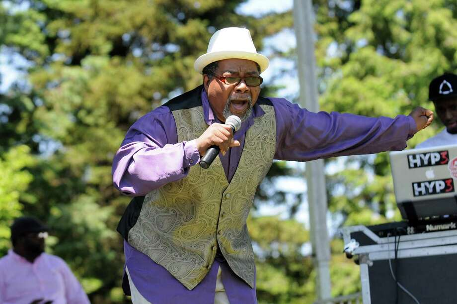 "Donald ""Soul Man"" Hyman sings Motown classics during the Juneteenth Celebration on Saturday, June 15, 2013, at Washington Park in Albany, N.Y. Juneteenth symbolizes the end of slavery, and for many African-Americans, it has come to mean what Fourth of July means for all Americans: Freedom. (Cindy Schultz / Times Union) Photo: Cindy Schultz / 00022642A"