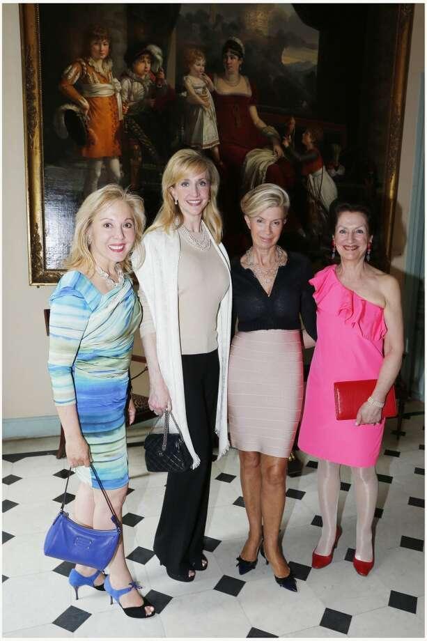 Linda Barrett, left, Tricia Dewhurst, Catherine de Gramont and Francine d'Orgeval