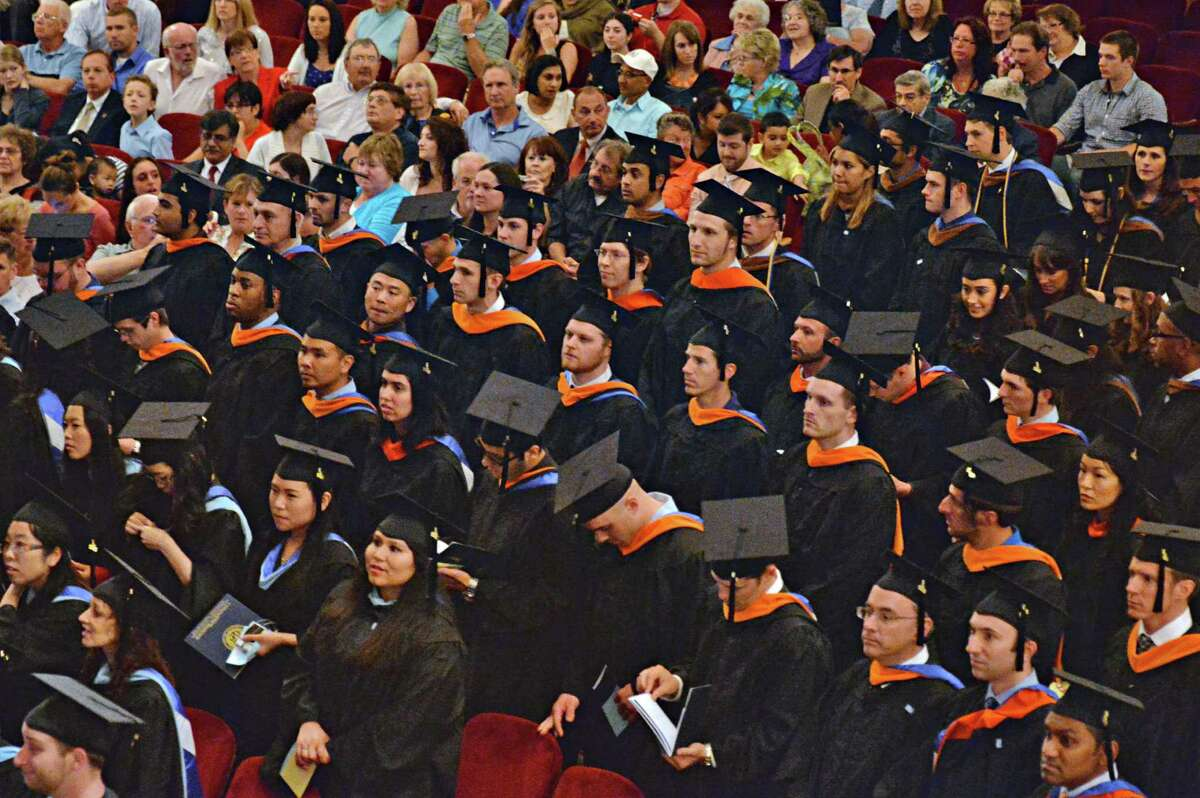 Union Graduate College commencement ceremonies at Proctor's Theatre in Schenectady, NY, Saturday June 15, 2013. (John Carl D'Annibale / Times Union)