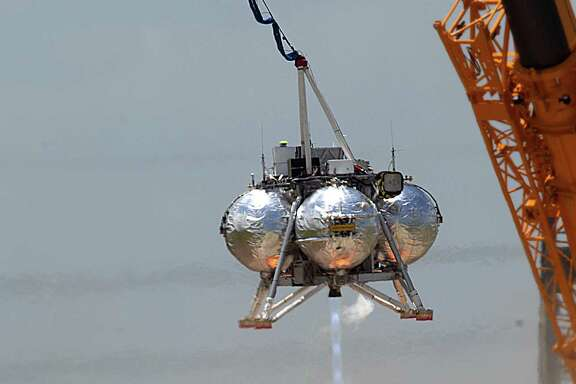 All recent tests of NASA's Morpheus lander have come tethered to a crane after a crash during its second free-flight test last August.