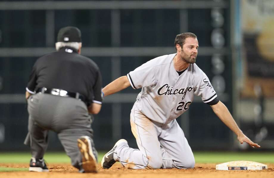 Jordan Danks reacts after getting picked off at second to end the game.