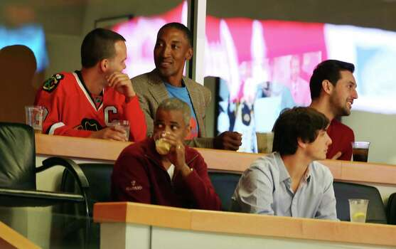 CHICAGO, IL - JUNE 15: NBA Hall of Famer Scottie Pippen watches play of the Chicago Blackhawks and the Boston Bruins in Game Two of the Stanley Cup Final at the United Center on June 15, 2013 in Chicago, Illinois. Photo: Tasos Katopodis, Getty Images / 2013 Getty Images
